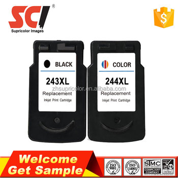 Bulk buy for canon PG243 CL244 ink cartridge compatible for canon MG2922 Printer
