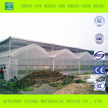 Galvanized steel frame polytunnel greenhouse for agriculture