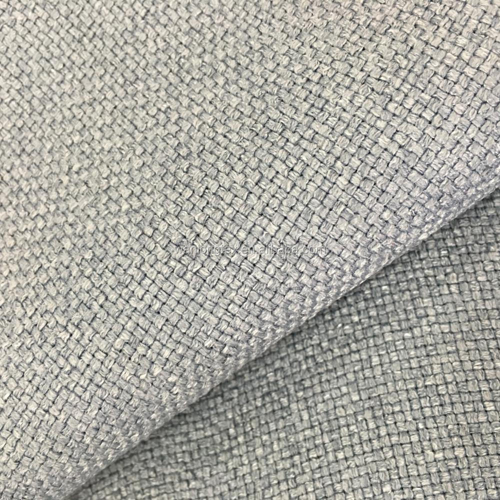 100% polyester linen look fabric for sofa upholstery fabric