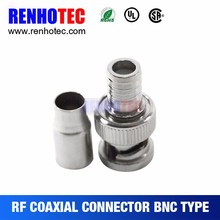 Crimp Male BNC Connector For RG58