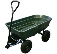 TC4253 Four Wheel Garden Tool Transport Plastic Dump Tool Cart