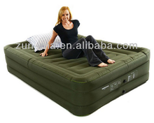 Olive green inflatable camp air bed