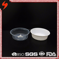 Dinnerware PP 420ml Clear Disposable Plastic Food Tray