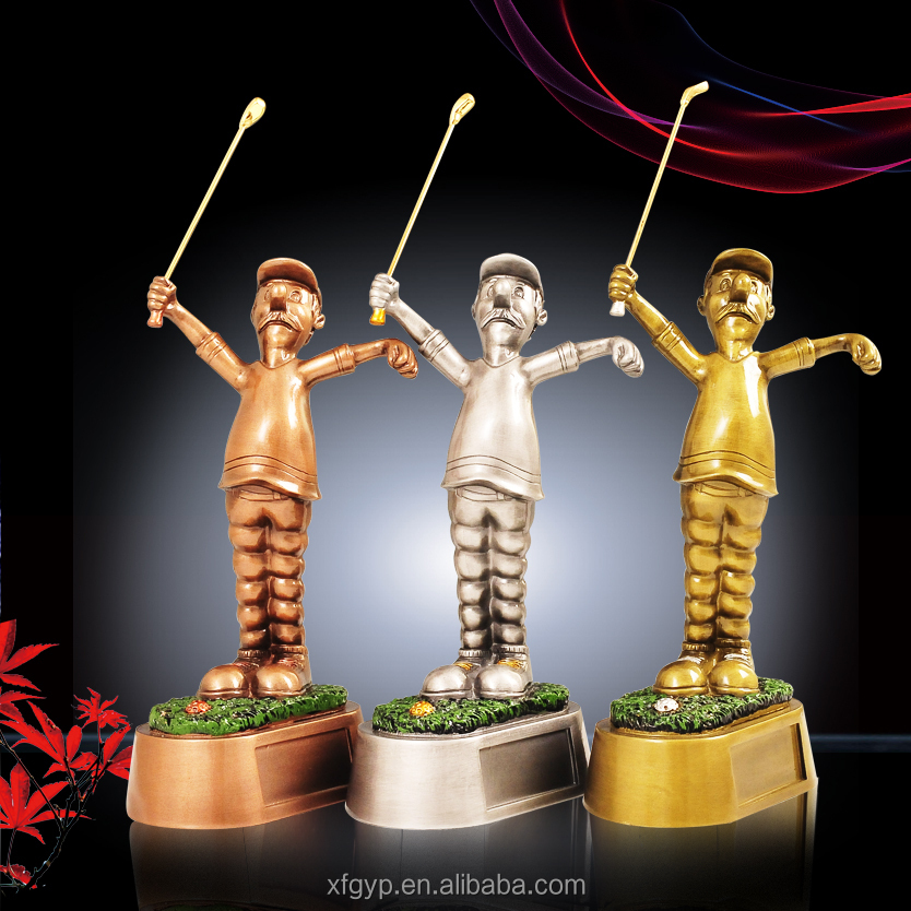 wholesale new design resin golf trophy