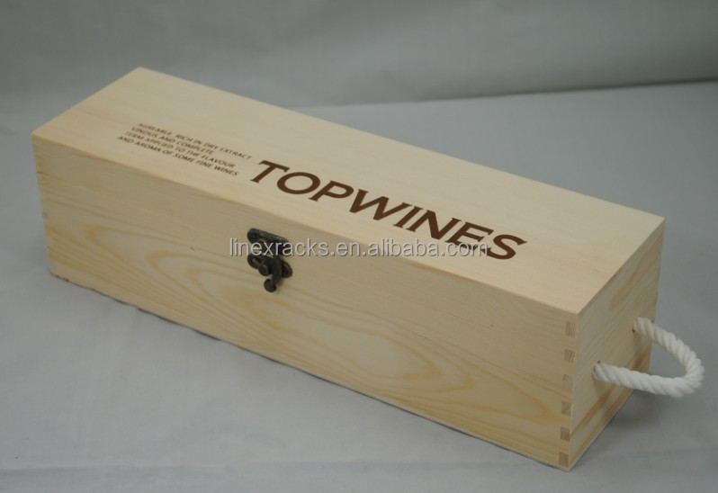 LINEX single bottle well sold factory price wood wine gift box wine case of wine