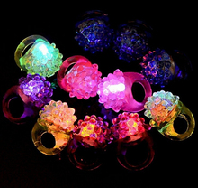 LIGHT UP SOFT JELLY RINGS FLASHING LED RAVE PARTY FAVORS BLINKING GLOW