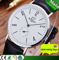 Europe luxury men analog watch 3 hands analog quartz watch movement stainless steel watch