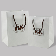wholesale paper bag cord handle recyclable paper zip lock bag luxury paper carrier bag with logo