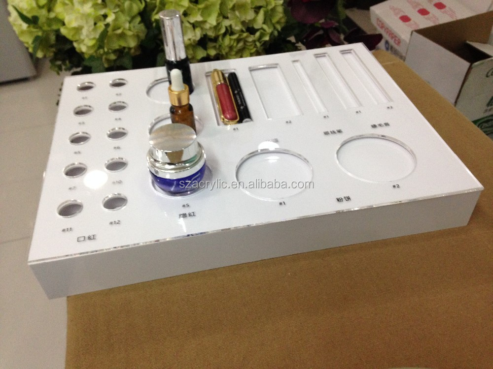 cosmetic promotional counter top acrylic display