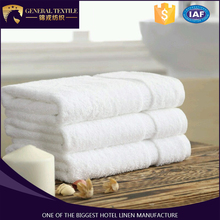 2016 Hot Sale 100% Cotton 5 Star Satin Band Hotel Thin Bath Towel with Custom logo
