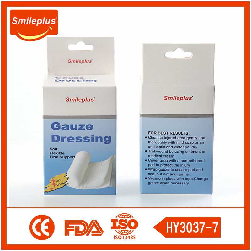 CE Certificated Breathable Gauze Roll Confirming Bandage
