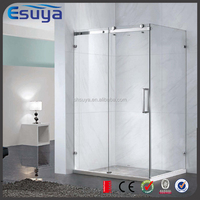 SUYA Chinese new year promote tempered glass frameless straight corner shower door, shower room curtain