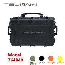 Tsunami carry on case with foam for Camera or Video equipment Guns Travel luggage waterproof Hard Plastic Case