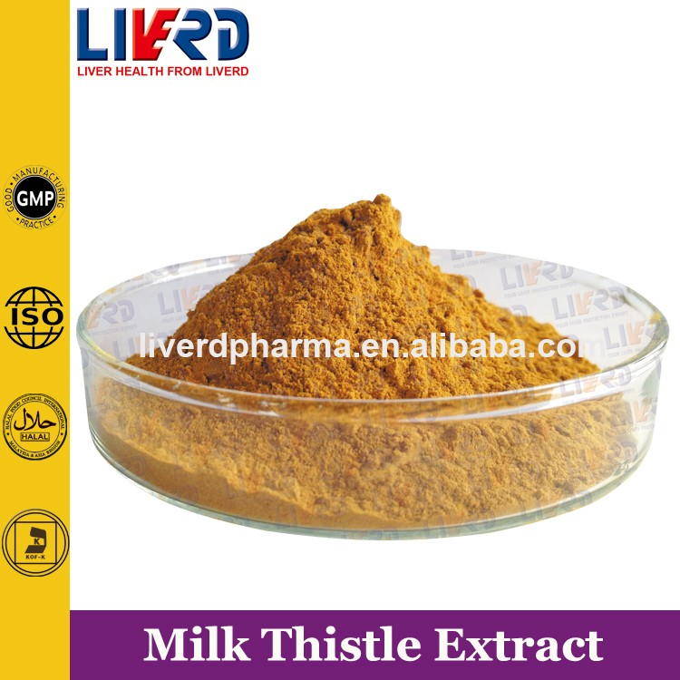 25kg per Drum 80% Milk Thistle Powder