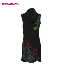 Embroidered dress online shopping India fashion sleeveless new design sexy tight tube women dress