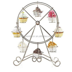 Ferris wheel 8 cups iron cake stand for cupcake display