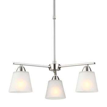 Italian Style Satin Nickel E27 Lampholder Chandelier Glass Lamp