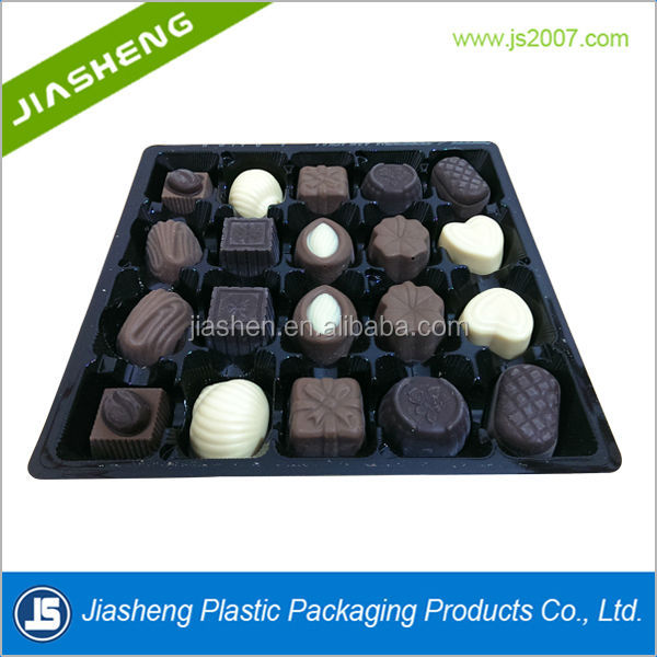 Pet Tray For Sweet Or Candy/ Vacuum Plastic Packaging Chocolate Tray