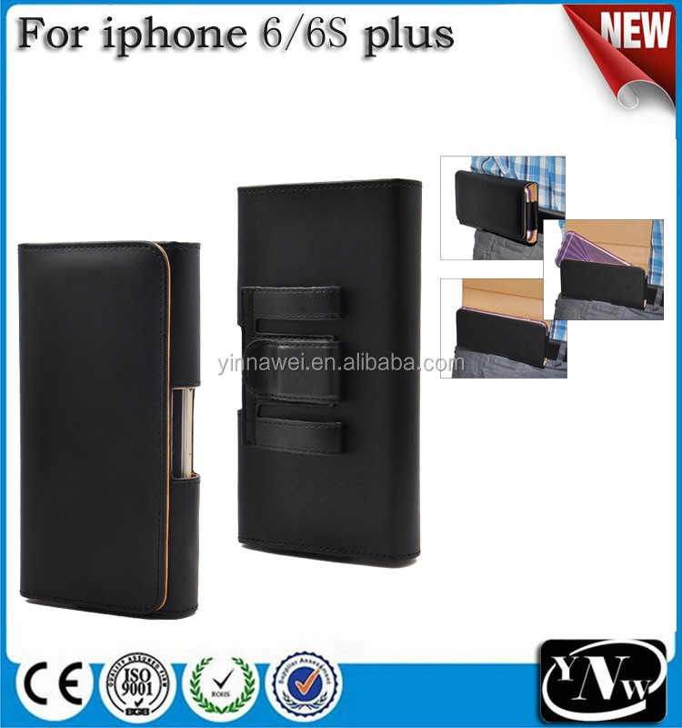 Premium Horizontal Leather Case with Belt Loops Pouch Holster for Apple iPhone 6 plus/belt clip holster for iphone 6