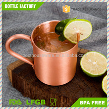 16oz Pure Solid Copper Mug Perfect for Russian Moscow Mules, Cocktail and Cold Drinks
