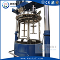 double axis stirring body cream making machine moveable mixing barrel hydraulic lifting