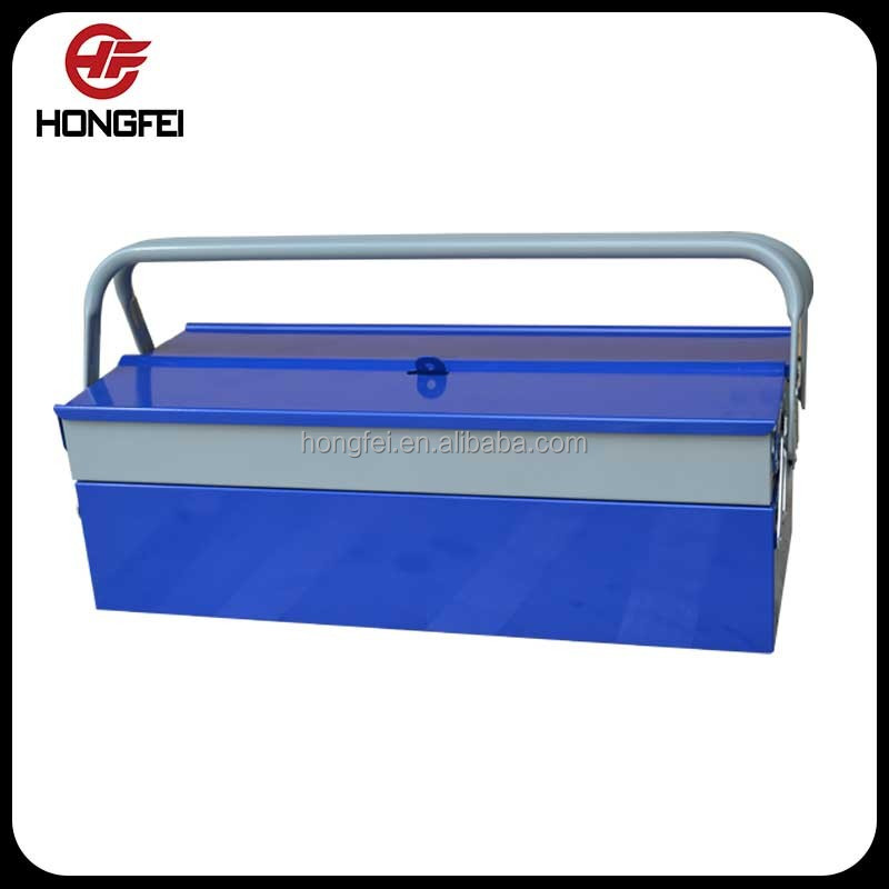 Blue and grey packaging metal storage cabinets with 3 trays