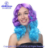 2015 New Arrival cheap 100% Polyester two tone color wig for woman