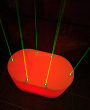 Oval light flashing night club floor LED furniture small bar dance stage