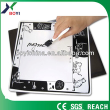 2014 chinese manufacturer children magnetic drawing board/whiteboard magnet customize