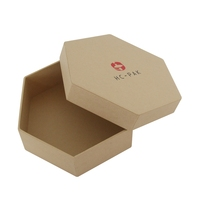 Fancy round corner hexagonal cardboard christmas gift packaging box