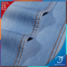32*32 high performance light blue ,white 100% cotton denim fabric for jeans garment
