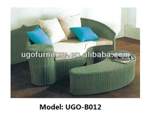 Arc-shaped outdoor sofa day bed rattan circular bed