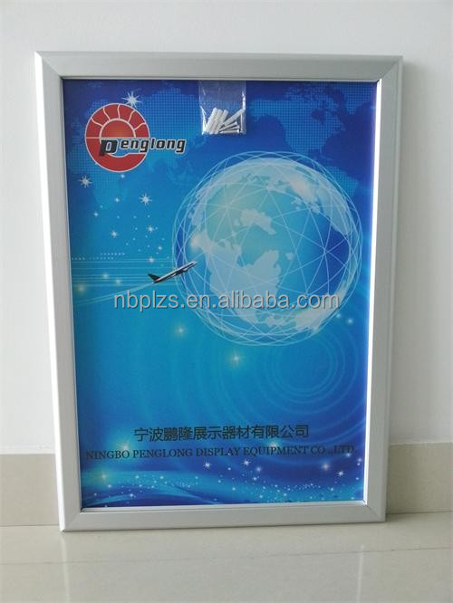 Newest easy change 32mm aluminum frame poster snap frame,wall mounted poster holder A2