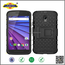 PC + TPU Shockproof back cover case for Motorola moto G Turbo Edition