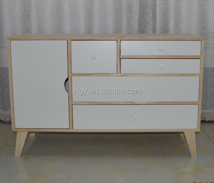 Paulownia simple white receive ark family sitting room ark export type ark cabinet