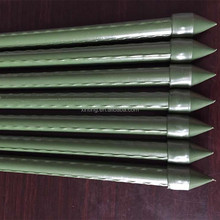 plastic coted steel supporter garden plant stakes