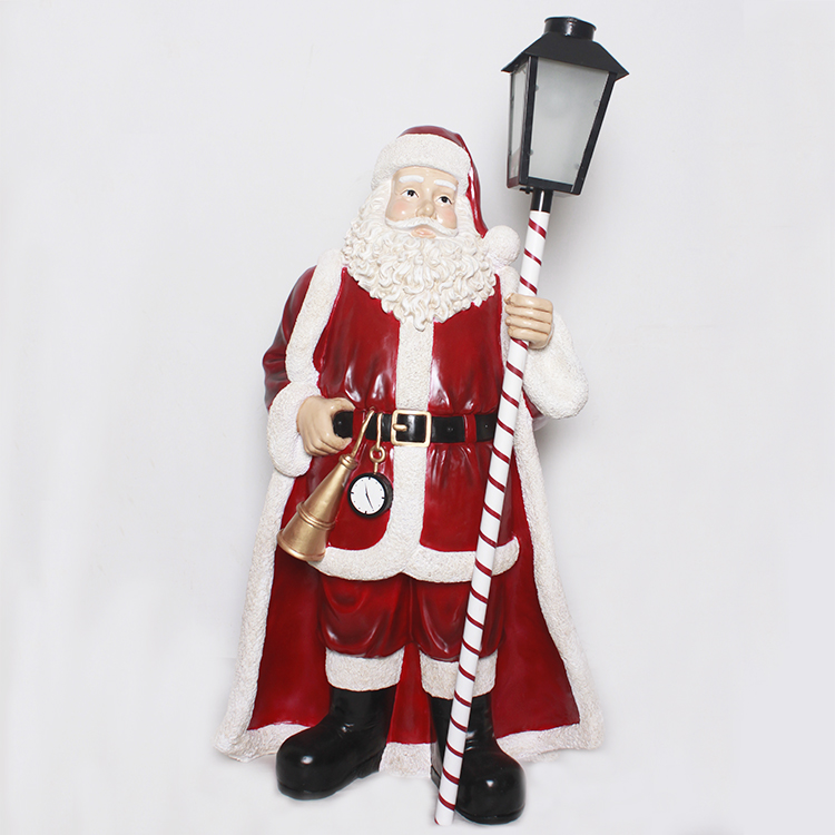 Standing Indoor Christmas Santa Claus Statue Decoration