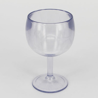 SAN pint wine Goblet glass clear transparent long-term plastic cup