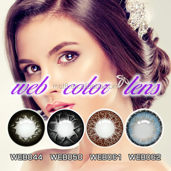 wholesale doll eyes contact lens/ rainbow contact lens/ tri color contact lens