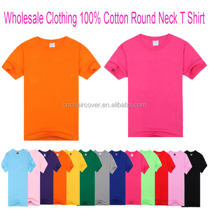 Wholesale Clothing Factory In China Cotton Blank T Shirt