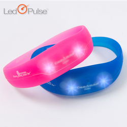 LED Pulse Motion activated wristbands silicon bracelets motion sense
