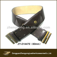 2013 Ladies fashion belt with pocket,leather money belt