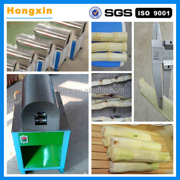 Best quality stainless steel sugar cane peeler/sugarcane processing/peeling machine