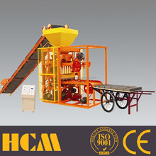 QTJ4-26 production line of concrete blocks/ semi automatic hollow block making machine in south afirca