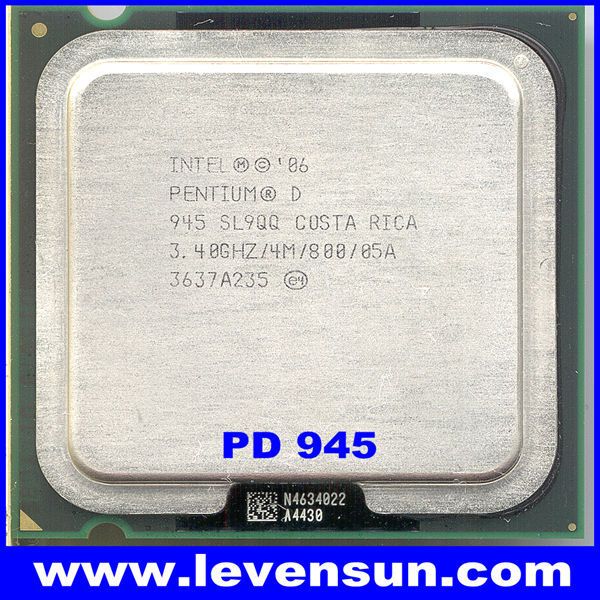 Used pull clean intel pentium D PD-945 3.40GHz 2*2M,800MHz,775pin,65nm dual core cpu processor