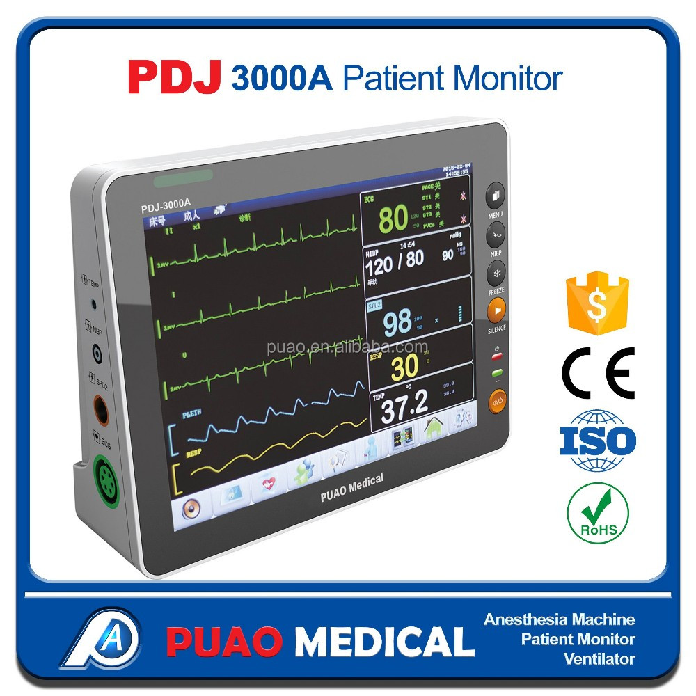 Cheap Functional Patient Monitor Multi Parameter Medical Use