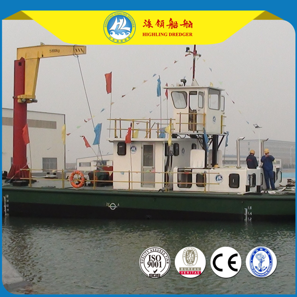 Hot Sale Multi-function Service Work Boat For Cutter Suction Dredger
