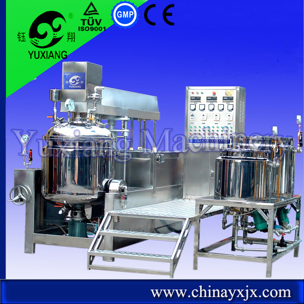 Automatic Cosmetic cosmetic hydraulic vacuum emulsifying mixer