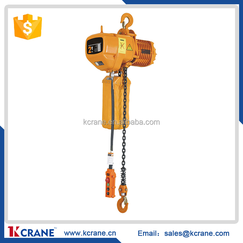 Travel type Manual chain motor hoist / wire rope electric hoist 5000kg