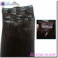Direct hair factory double drawn remy wholesale price 200 grams clip in hair extensions